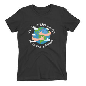 We Love The Earth Ladies Tee (Black) Thumbnail